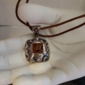 Silpada Sterling Silver Amber Pendant